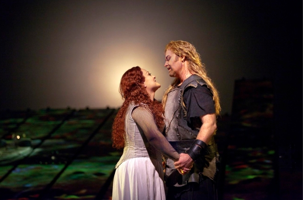 "Deborah Voigt (Brünnhilde) and Jay Hunter Morris (Siegfried) in Met Opera's production of Wagner's ""Siegfried"" - November 2011 © Ken Howard"