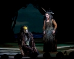 Luca Pisaroni (Caliban) and Joyce DiDonato (Sycorax) in the Metropolitan Opera production of 'The Enchanted Island' - 21 January 2012 © Sara Krulwich, New York Times